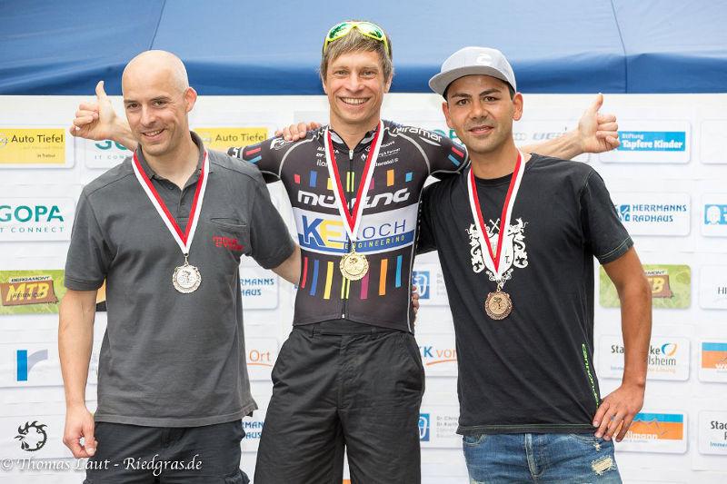 Nils Richter Podium Hessscihe Meisterschaft MTB Bauschheim